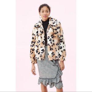 ✨Editor's pick✨RebeccaTaylor Faux Fur Cheetah Coat